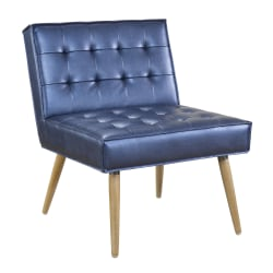 Office Star™ Avenue Six Amity Tufted Accent Chair, Sizzle Azure/Silver