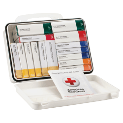 "First Aid Only 16-Unit First Aid Kit, 2 3/8""H x 6 5/16""W x 9""D, White"