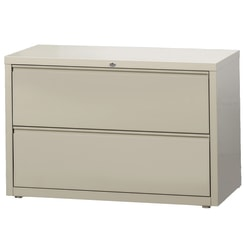 "WorkPro® 42""W Lateral 2-Drawer File Cabinet, Metal, Putty"