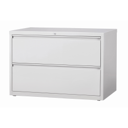 "WorkPro® 42""W Lateral 2-Drawer File Cabinet, Metal, Light Gray"