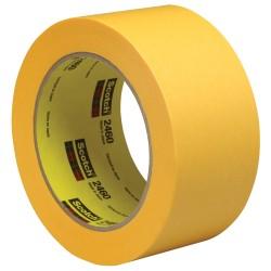 "3M™ 2460 Flatback Tape, 3"" Core, 2"" x 180', Gold, Pack Of 12"