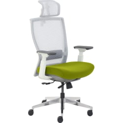 True Commercial Pescara High-Back Executive Chair, Green/Off-White