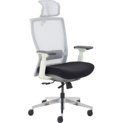 True Commercial Pescara High-Back Executive Chair, Black/Off-White