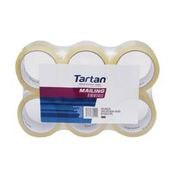 """3M™ Tartan™ Box Sealing Tape, 1-7/8"""" x 54.6 Yd., Clear, Pack Of 6 Rolls"""