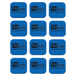 "Flipside Magnetic Whiteboard EVA Foam Student Erasers, 1""H x 2""W x 2""D, Blue, Pack Of 12"
