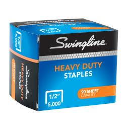 """Swingline® Heavy-Duty Staples, 1/2"""", Box Of 5,000"""