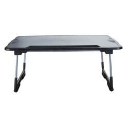 Mind Reader Plastic Adjustable Foldable Laptop Table, Black