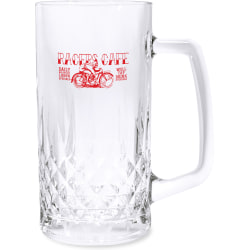 Quilted Pattern Tankard, 20 Oz, Clear