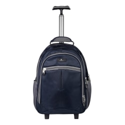 """Volkano Orthopaedic Trolley Backpack With 15.6"""" Laptop Compartment, Navy/Gray"""