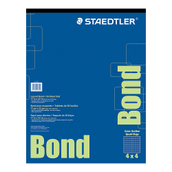 """Staedtler® Bond Paper, 17"""" x 22"""", White With Blue Grid, 50 Sheets"""