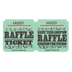 Amscan Raffle Ticket Roll, Green, Roll Of 1,000 Tickets