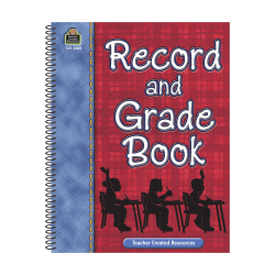 Teacher Created Resources Plaid Record And Grade Books, Pack Of 4