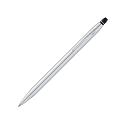 Cross® Click Ballpoint Pen, Medium Point, 0.7 mm, Chrome Barrel, Black Ink