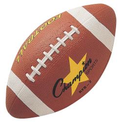 "Champion Sports Intermediate Rubber Football - 11"" - Intermediate - Rubber - 24 / Case"