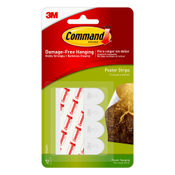 3M™ Command™ Poster Strips, Pack Of 12 Strips
