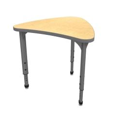 Marco Group Apex™ Series Adjustable Chevron Student Desk, Fusion Maple/Gray