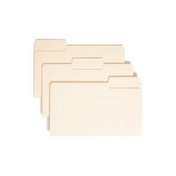 Smead® SuperTab® Heavyweight File Folders, Legal Size, 1/3 Cut, Manila, Box Of 50