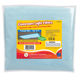 "Educational Insights® Classroom Light Filters, 24"" x 48"", Tranquil Blue, Pre-K - College, Pack Of 4"