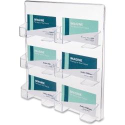 deflecto Wall Mount Business Card Holder - Acrylic - 1 Each - Clear