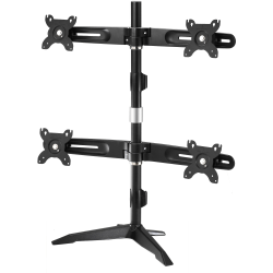 """Amer Mounts Stand Based Quad Monitor Mount for four 15""""-24"""" LCD/LED Flat Panel Screens - Supports up to 17.6lb monitors, +/- 20 degree tilt, and VESA 75/100"""
