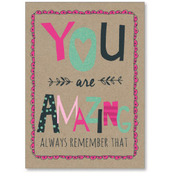 """Viabella Encouragement Greeting Card With Envelope, You Are Amazing, 5"""" x 7"""""""