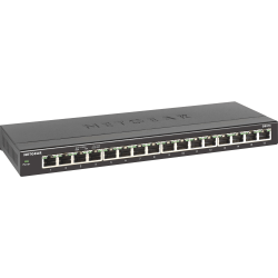 Netgear® 16-Port Gigabit Ethernet Desktop Switch, GS316-100NAS