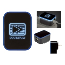 Light-Up Dual USB Port Wall Charger