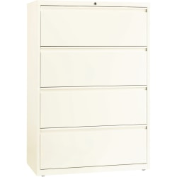"""Lorell® Fortress 36""""W Lateral 4-Drawer File Cabinet, Metal, Cloud White"""