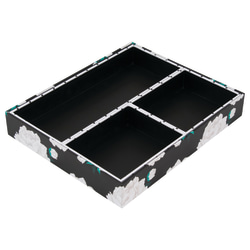 See Jane Work® Floral Organizer Trays, Pack Of 4 Trays, Black