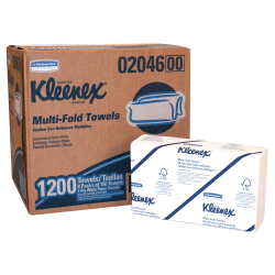 Kleenex® Multi-Fold 1-Ply Paper Towels, 50% Recycled, Pack Of 1200 Sheets