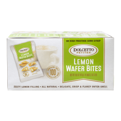 Dolcetto Petites Lemon Wafer Bites, 0.7 Oz, Box Of 24 Bags