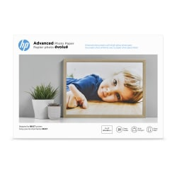 """HP Advanced Photo Paper for Inkjet Printers, Glossy, 13"""" x 19"""", 66 Lb., Pack Of 20 Sheets (CR696A)"""