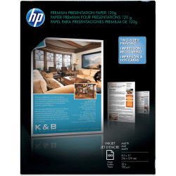"""HP Premium Business Paper for Inkjet Printers, Matte, Letter Size (8 1/2"""" x 11""""), 32 Lb, Pack Of 100 Sheets (D0Z55A)"""