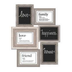 """PTM Images Photo Frame, You And Me, 17 7/8""""H x 1/4""""W x 28 7/8""""D, Black/White"""