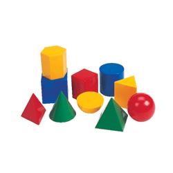 Learning Resources Shape Manipulatives, Large Geometric Shapes, Set Of 10