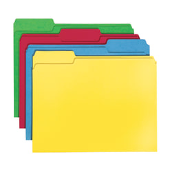 Smead® Color File Folders, Letter Size, 1/3 Cut, Assorted Colors, Pack Of 24