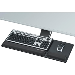 Fellowes® Designer Suites™ Compact Keyboard Tray, Black