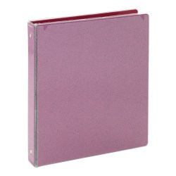 "Office Depot® Brand Fashion 3-Ring Binder, 1"" Round Rings, Pink Glitter"