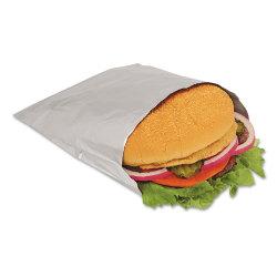 "Bagcraft Foil Sandwich Bags, 6 1/2"" x 6 3/4"", Silver, Carton Of 1,000 Bags"
