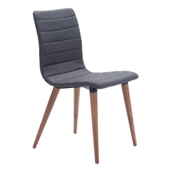 Zuo Modern Jericho Dining Chairs, Gray/Walnut, Set Of 2 Chairs