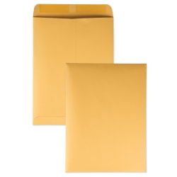 """Quality Park® Catalog Envelopes With Gummed Closure, 9"""" x 12"""", Brown, Box Of 250"""