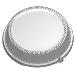 """CaterLuxe® High Dome Plate Lids, 10-1/4"""", Clear, Pack Of 200 Lids"""
