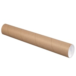 """Office Depot® Brand Mailing Tubes With Caps, 3"""" x 16"""", 80% Recycled, Kraft, Case Of 24"""