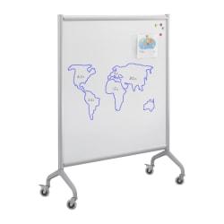"Safco® Rumba™ Screen Whiteboard, 54"" x 42"", Silver Aluminum Frame"