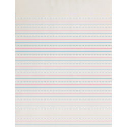 "Pacon® Broken Midline Writing Paper, Grade 3, 1/2"" x 1/4"" x 1/4"", SW"