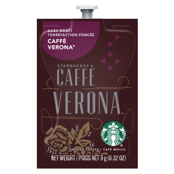 Starbucks® Dark-Roast Coffee Freshpacks, Caffé Verona, 0.32 Oz, Box Of 80 Packs