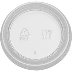 Dixie Foods Plastic Portion Cup Lid - PETE Plastic - 2400 / Carton - Clear