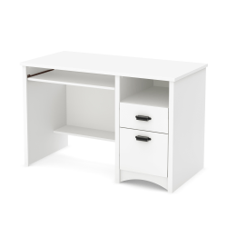 South Shore Gascony Computer Desk With Keyboard Tray, Pure White