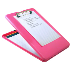 """Saunders® SlimMate Breast Cancer Awareness Form Holder Storage Clipboard, 13 1/2""""H x 9 1/2""""W x 1 1/2""""D, Pink"""