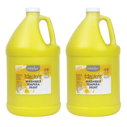 Little Masters™ Washable Tempera Paint, 128 Oz, Yellow, Pack Of 2
